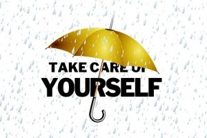 unbrella with words take care of yourself